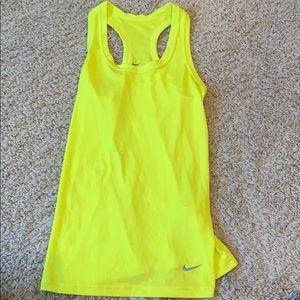 Nike neon size small workout tank